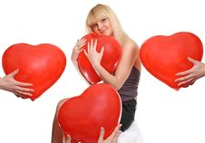 Free Girl Presses To Itself Heart Stock Images - 13761514