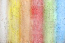 Rainbow From A Chalk Royalty Free Stock Image