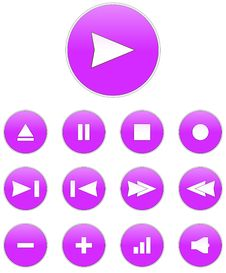 Free Audio Buttons Stock Images - 13762034