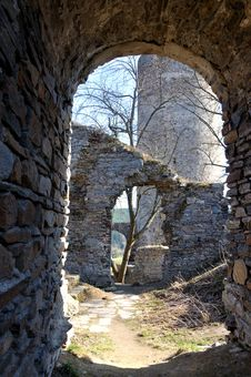 Old Ruin In The South Bohemian.