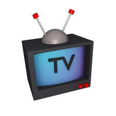 3d Television Black Plain Royalty Free Stock Images
