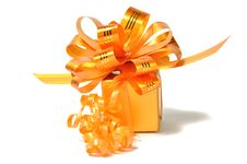 Free Golden Gift Royalty Free Stock Photo - 13762515