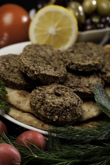 Free Mediterranean Meal With Falafels Stock Images - 13764114