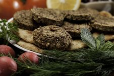 Free Mediterranean Meal With Falafels Stock Images - 13764124