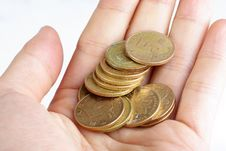 Free Coins In Hand Stock Photos - 13764253