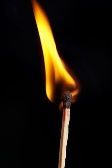 Free Burning Match Royalty Free Stock Photo - 13764315