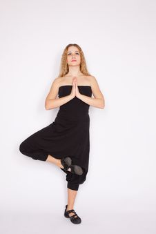 Free Young Woman Doing Yoga Exercise Royalty Free Stock Photo - 13764455