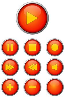 Free Audio Buttons Royalty Free Stock Photo - 13765245