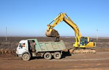 Dredge And Dump-body Truck Stock Photos