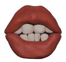 Free Plasticine Lips Royalty Free Stock Photos - 13766088