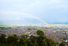 Free Rainbow Over The Lijiang Old Town Stock Photography - 13766682