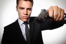 Business Man With Gun Stock Image