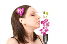 Free Woman At SPA With Flower Stock Photos - 13767403