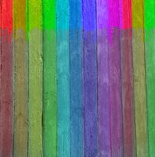 Free Multi-coloured Wooden Wall Royalty Free Stock Image - 13767546