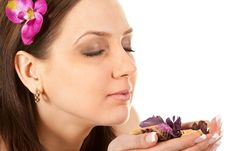 Free Woman At SPA With Flower Stock Photos - 13767843