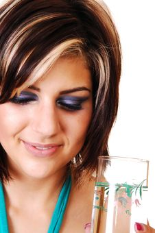 Free Young Woman With A Glass Of Water. Royalty Free Stock Images - 13768539