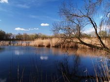 Free Dark Blue Lake Stock Photography - 13768592