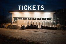 Ticket Box Under Construction ,johannesburg Royalty Free Stock Photography
