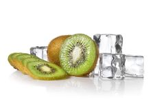 Fresh Kiwi With Ice Stock Photography
