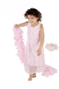 Free Cute Kid With Feather Boa Royalty Free Stock Photos - 13768938
