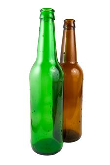 Free Two Beer Bottle Royalty Free Stock Image - 13769086