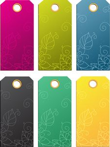 Set Of Color Sale Tags Royalty Free Stock Images