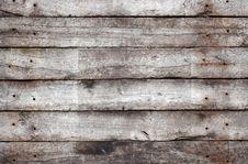 Horizontal Wooden Planks Royalty Free Stock Photo