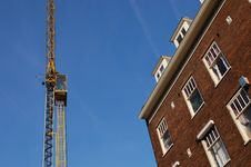 Crane At A Construction Site Royalty Free Stock Images