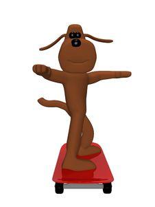 Free Dog On Skateboard Royalty Free Stock Images - 13769579