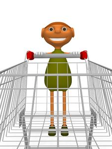 Goblins With Shopping Cart Royalty Free Stock Images