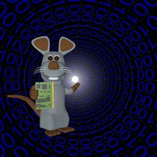 Mouse In Binary Form With Your Computer Royalty Free Stock Photo