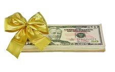 Free Dollars With Bow Stock Photo - 13769740
