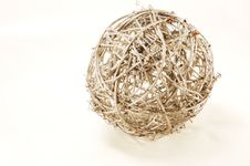 Free Woven Silver Rod Ball Royalty Free Stock Photo - 13769825