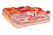 Free Smoked Bacon Chunk. Stock Photo - 13769880