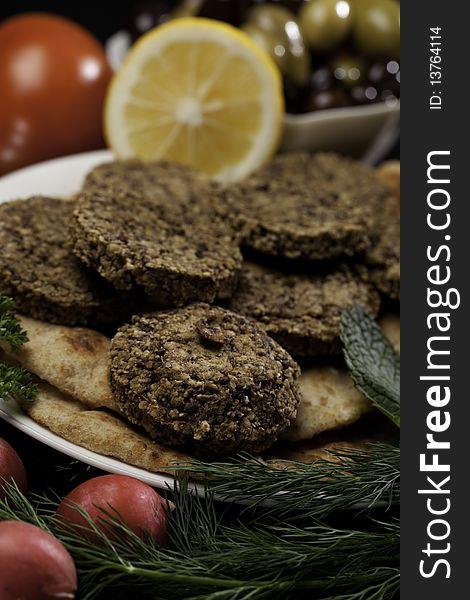 Mediterranean Meal with Falafels