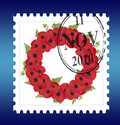 Free Remembrance Sunday Wreath Stamp Vector Stock Images - 13771024
