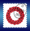 Free Remembrance Sunday Stamp Vector Royalty Free Stock Image - 13771176