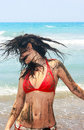 Free Dirty Girl On Beach Stock Image - 13773431
