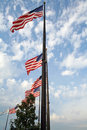 Free American Flags Royalty Free Stock Photo - 13775445