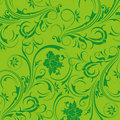 Free Green Flower Seamless Background Royalty Free Stock Images - 13776529