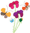 Free Flower With Butterflies Stock Images - 13777544