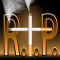 Free Smoking Kills-R.I.P. Royalty Free Stock Photo - 13778985