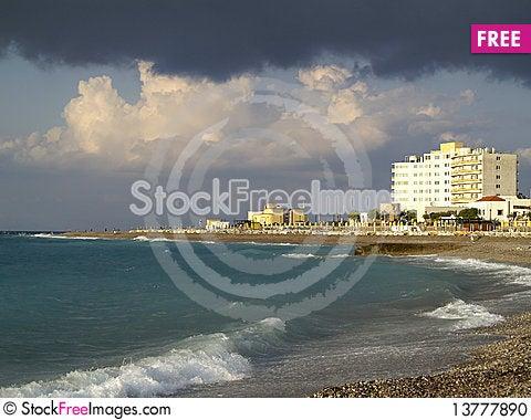Free Rhodes Town View Stock Photo - 13777890
