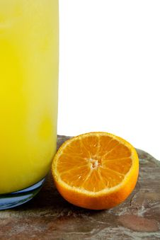 Orange And Juice Royalty Free Stock Photo