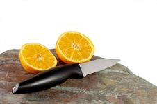 Free Orange And Knife Royalty Free Stock Images - 13770249