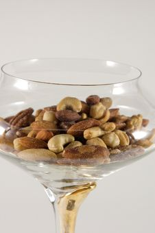 Mixed Nuts In A Bowl Royalty Free Stock Images