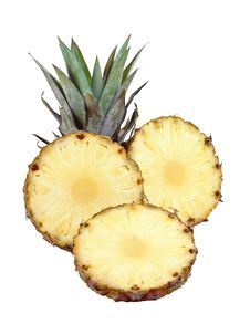 Sliced Pineapple Royalty Free Stock Images