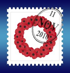 Remembrance Sunday Stamp Vector Royalty Free Stock Image