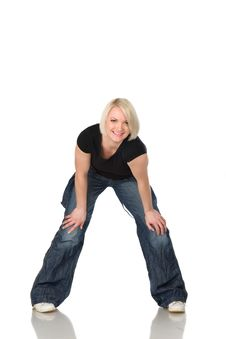 Free Woman In Jeans  4 Stock Images - 13771464