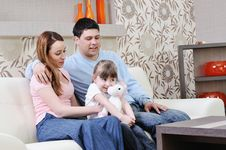 Free Happy Young Family At Home Stock Image - 13772391